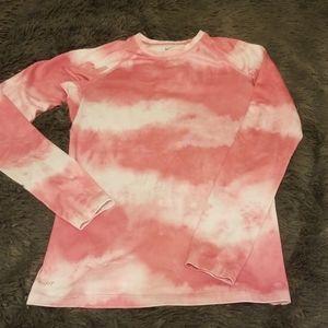 Nike pro combat long sleeve pink top shirt s sm